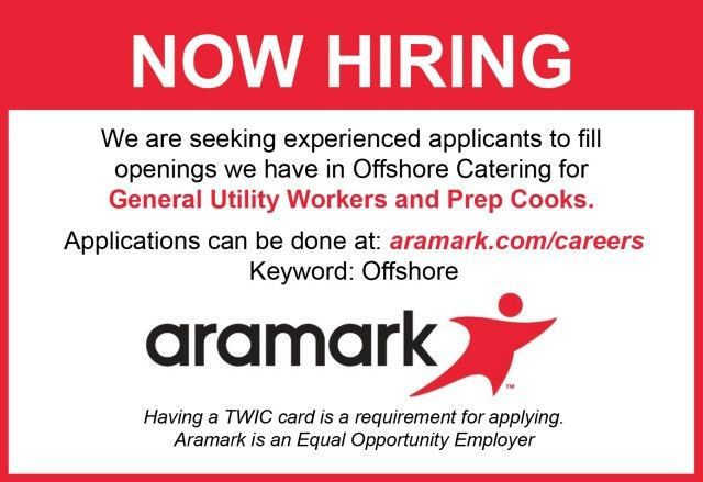 Now Hiring: Offshore Utility Hands and Prep Cooks - Oil & Gas Journal