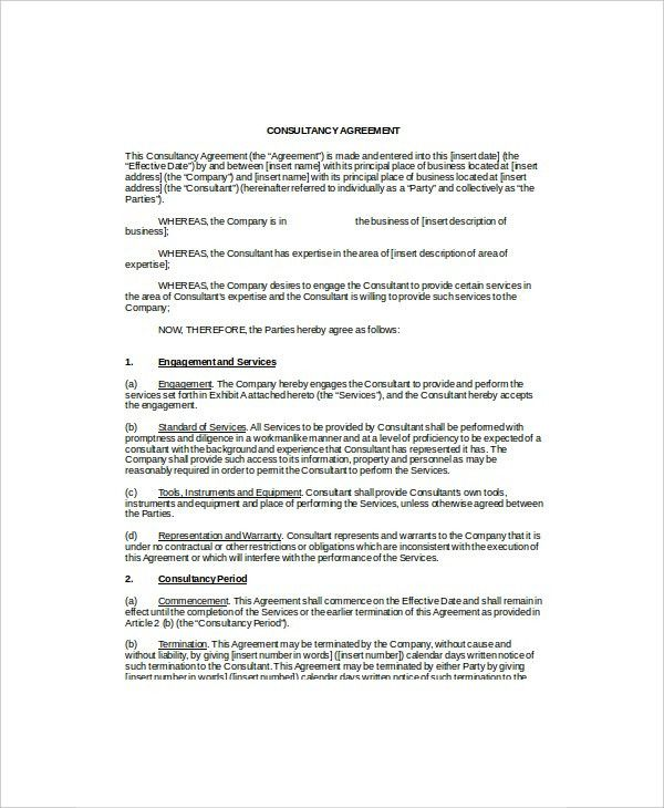 IT Contract Template - 5+ Free Word, PDF Documents Download | Free ...