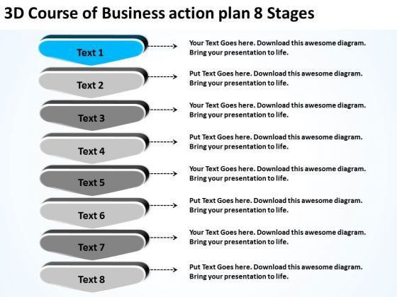PowerPoint Presentation Action Plan 8 Stages Restaurant Business ...