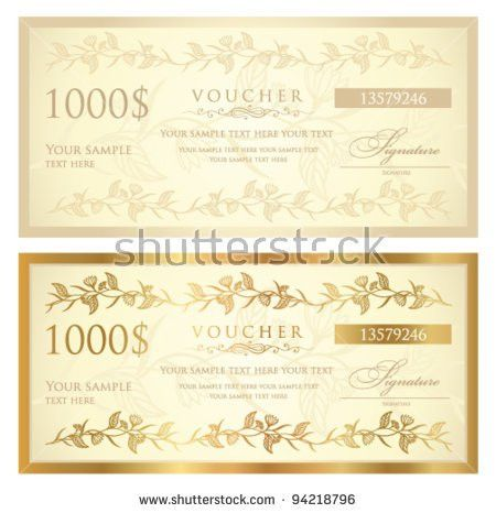 Money Voucher Template | Enwurf.csat.co