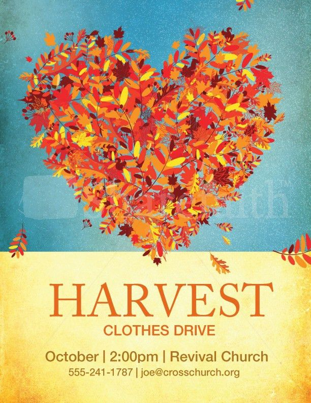 Harvest Clothes Drive Template | Flyer Templates