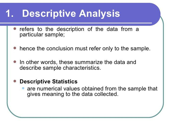 Chapter 10-DATA ANALYSIS & PRESENTATION