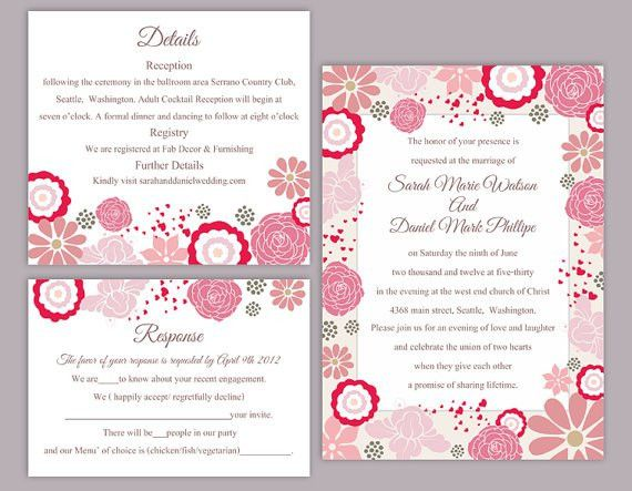 Editable Wedding Invitation Templates Free Download. Wedding ...