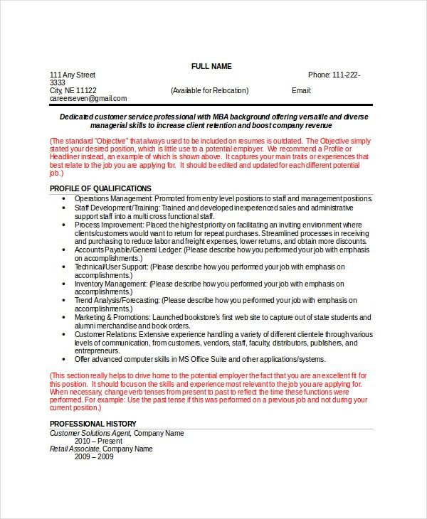 Resume Template Word - 10+ Free Word Documents Download | Free ...