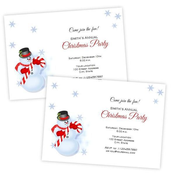 Christmas Invitation Template. Business Christmas Open House ...