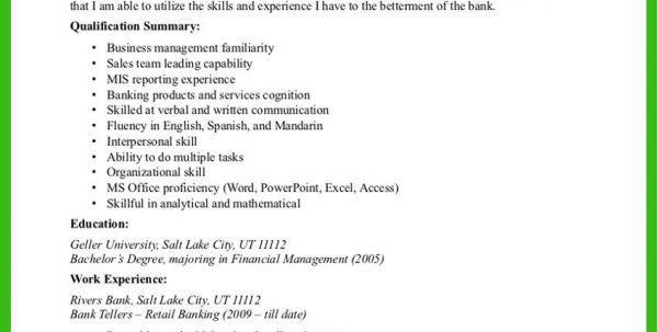 Bank Job Resume Sample Banking Resume Template Banking Resume ...
