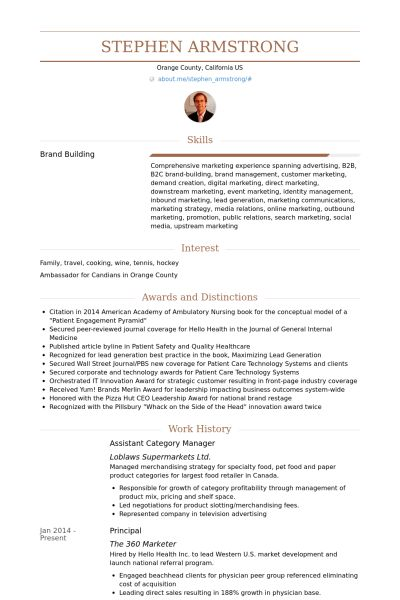 Category Manager Resume samples - VisualCV resume samples database