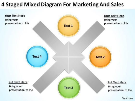 4 Staged Mixed Diagram For Marketing And Sales Ppt Best Business ...