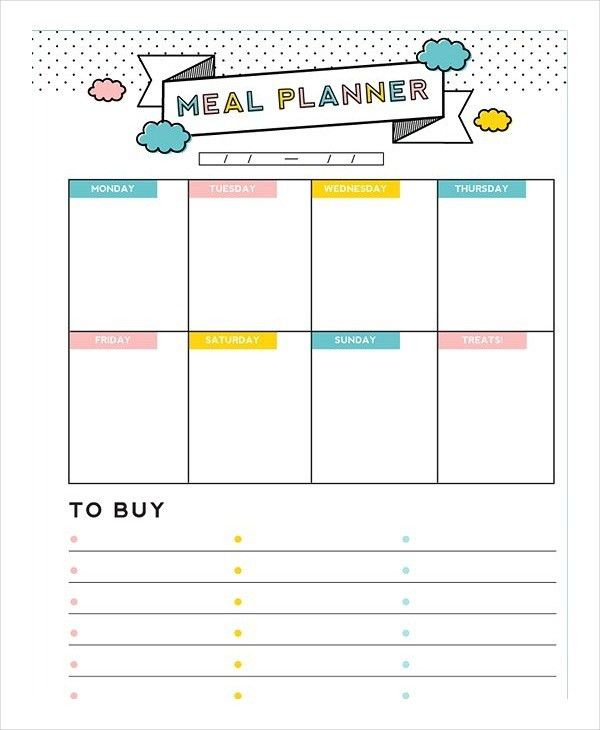 Daily Meal PlannerPlanners Reference | Planners Reference