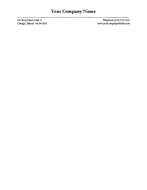 Free Business Letterhead - Version Four | Letterhead and Business