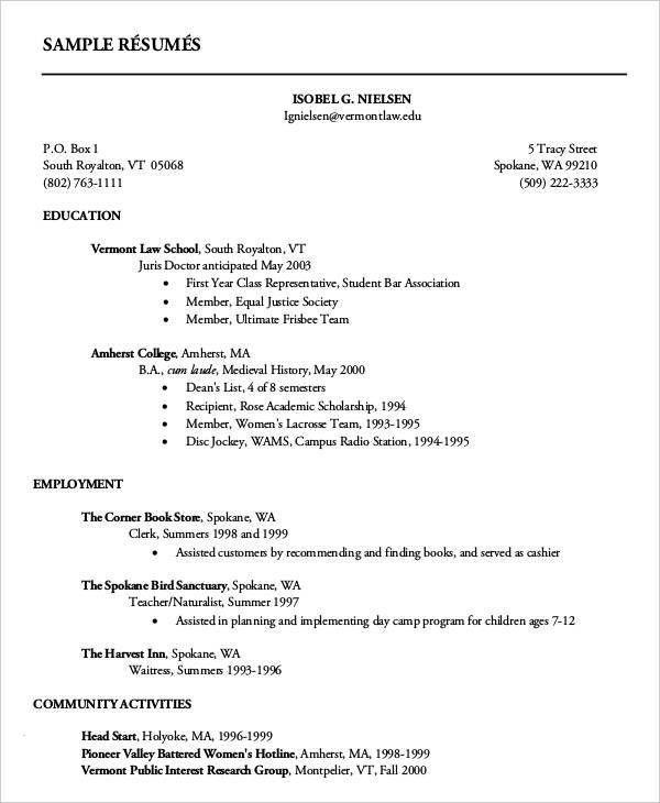 14+ First Resume Templates | Free & Premium Templates