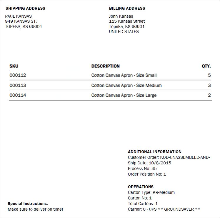 Create/Print Warehouse Documents (Packing Slip and Order Assembly ...