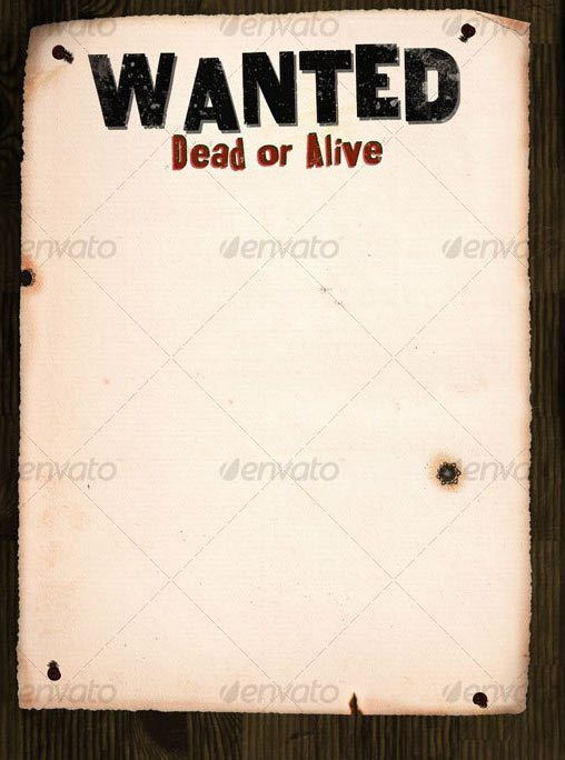 wanted poster on wood 9 Free & Premium Wanted Poster Templates ...