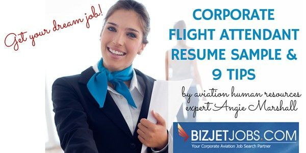 Corporate Flight Attendant Cover Letter Example - BizJetJobs.com