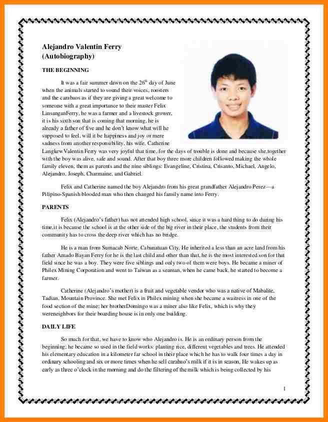 10+ sample autobiography of a college student | farmer resume