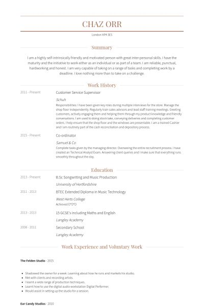 Customer Service Supervisor Resume samples - VisualCV resume ...