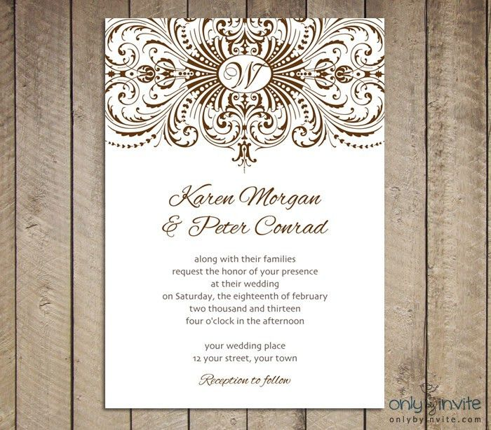 Dreaded Free Printable Wedding Invitations Templates | THERUNTIME.COM
