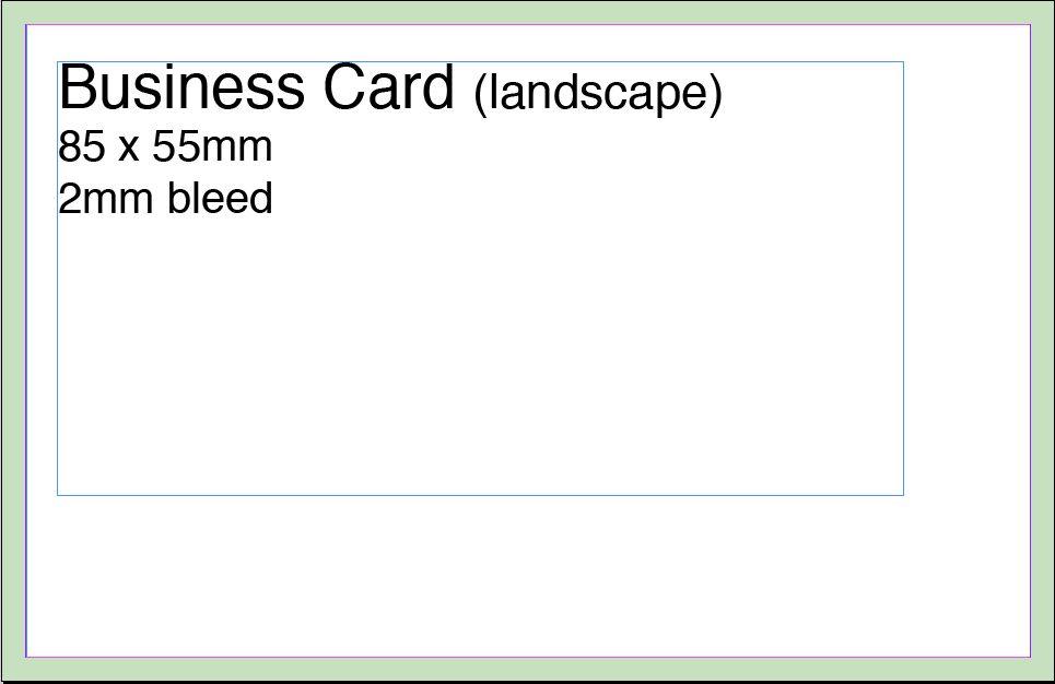 Business Card Artwork Template