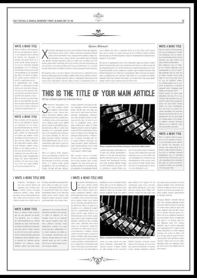 1930s Newspaper Template - Contegri.com