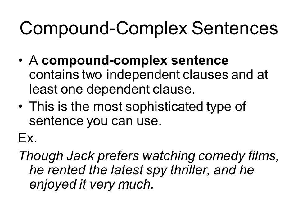Simple, Compound and Complex Sentences - ppt video online download