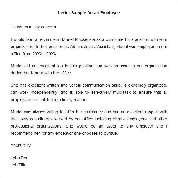 Collection of Solutions Letter Of Recommendation Template ...