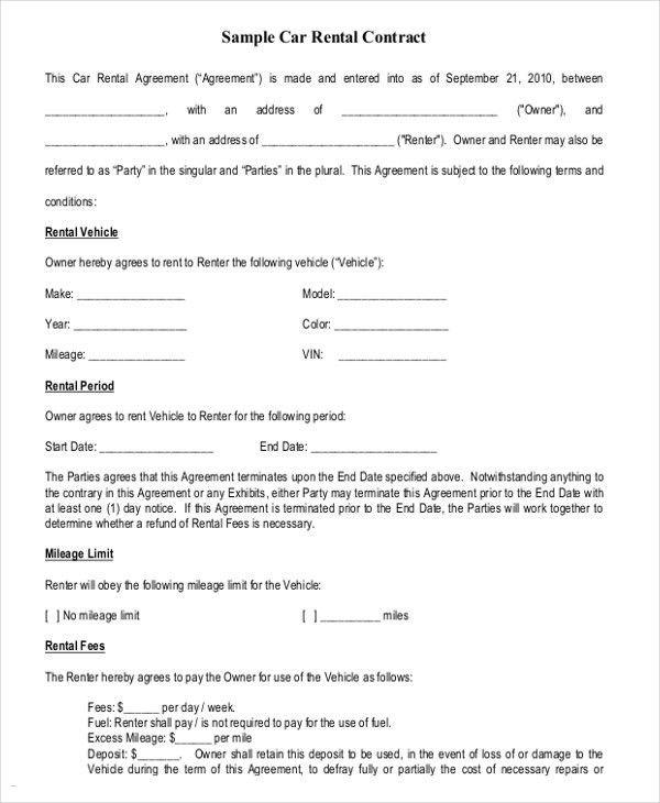 Rental Agreements Templates | Template Idea