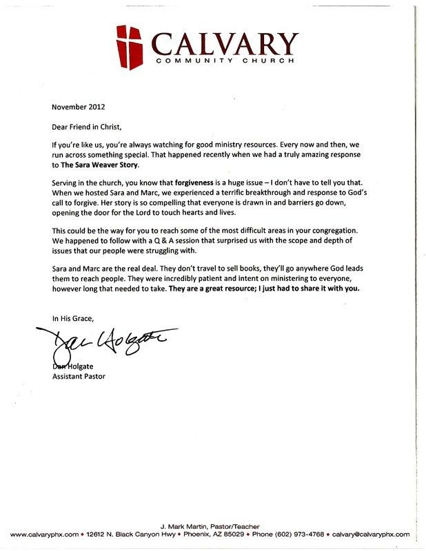 Sample Recommendation Letter For Employment From A Pastor - Cover ...