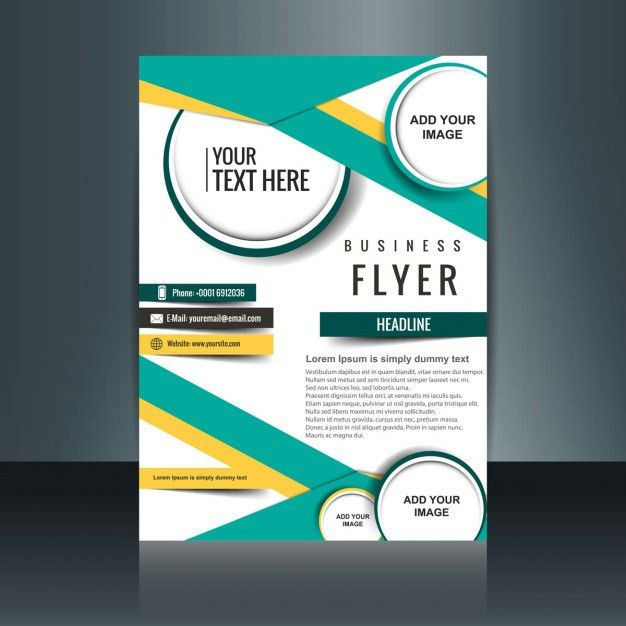 Modern company flyer with geometric figures Vector | Free Download