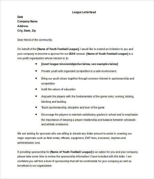 9+ Donation Letter Templates – Free Sample, Example Format ...