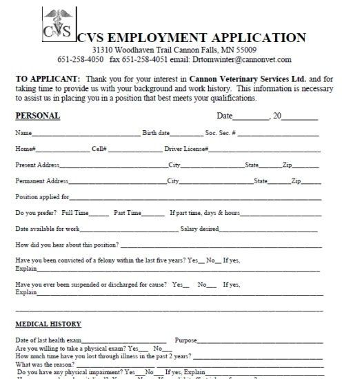 Cvs Job Application | whitneyport-daily.com
