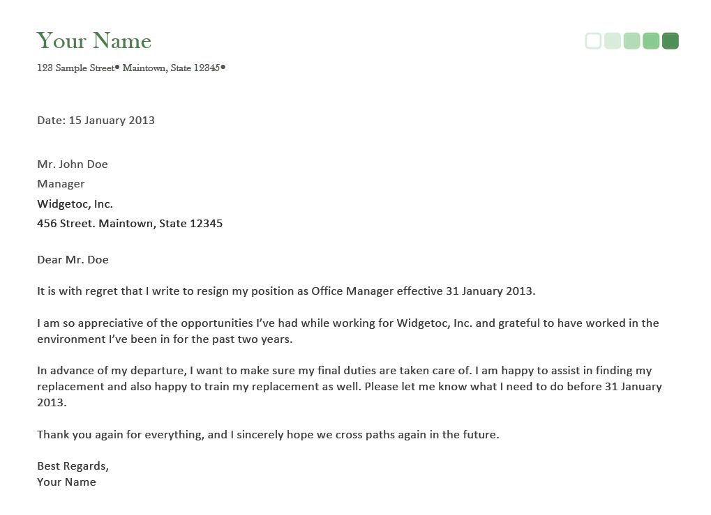basic resignation letter. letter of resignation sample in our ...