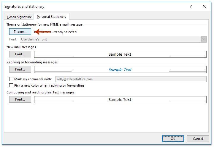 Change Normal Email Template Outlook 2010 - Mediafoxstudio.com