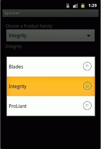java - Android -How do i make the Spinner to show the item after ...