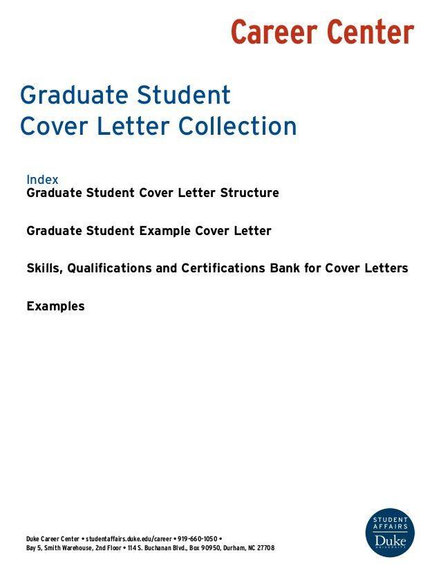 graduate student cover letter