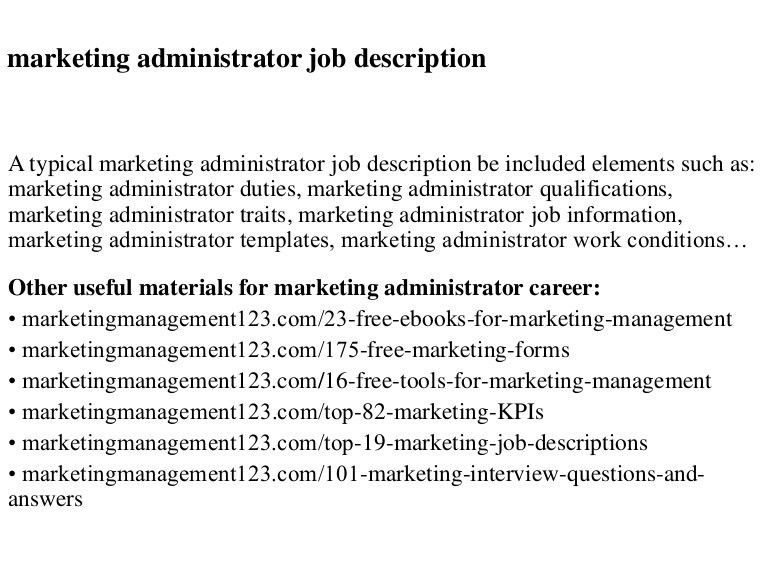 Trade Marketing Job Description. Job Description: Marketing ...