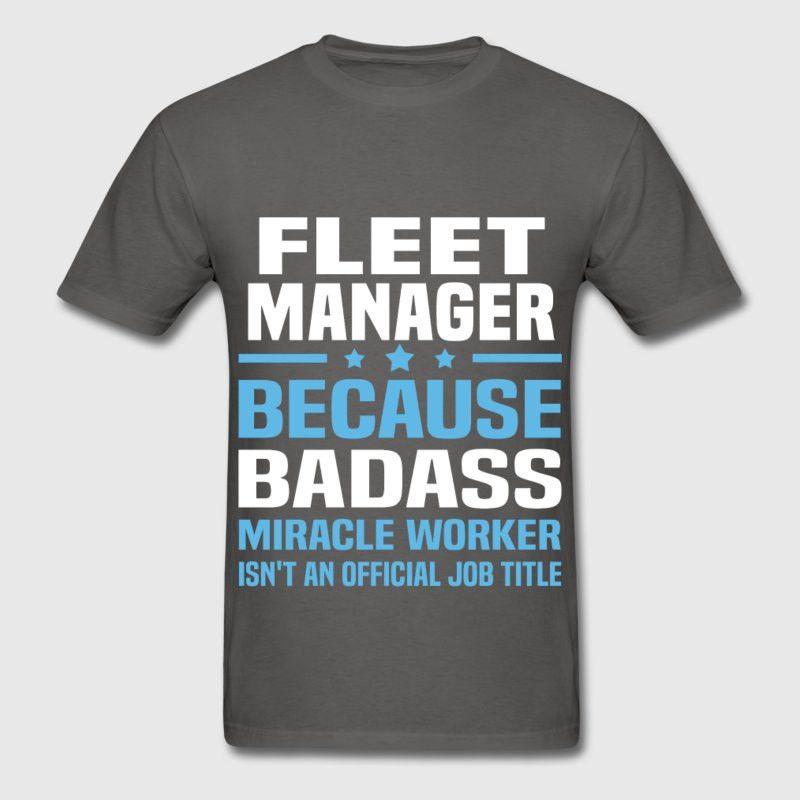 Fleet Manager T-Shirt | Spreadshirt