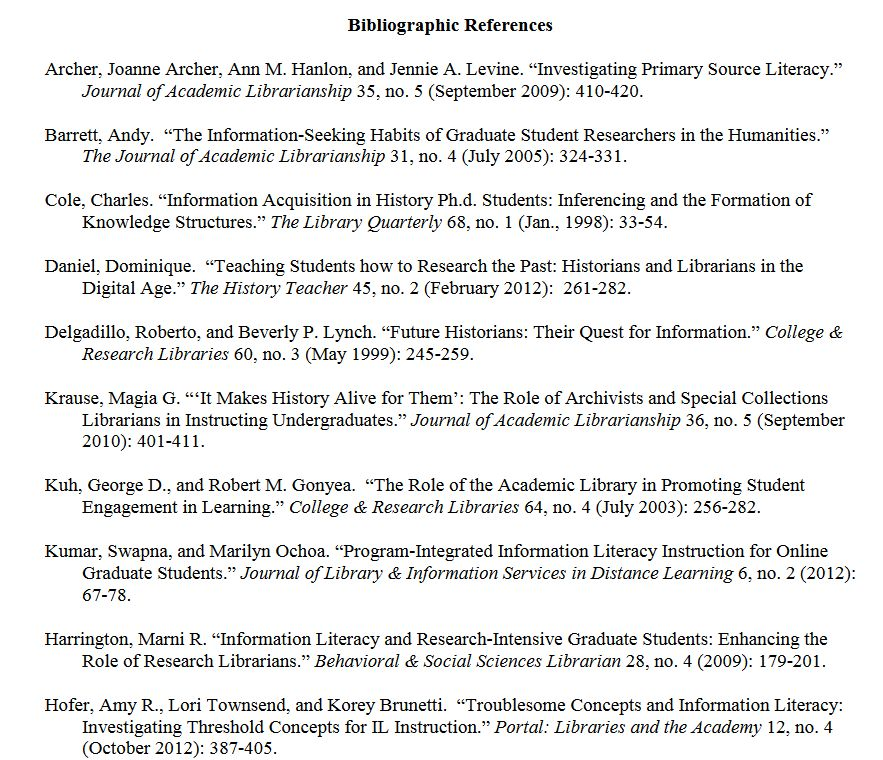 Bibliography or Reference list? - Dr. Potter's Library Guide ...