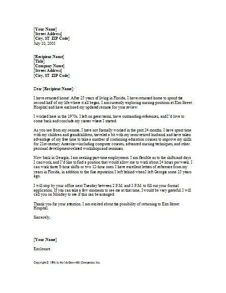 Cover Letter Nursing. New Grad Nurse Cover Letter Example ...