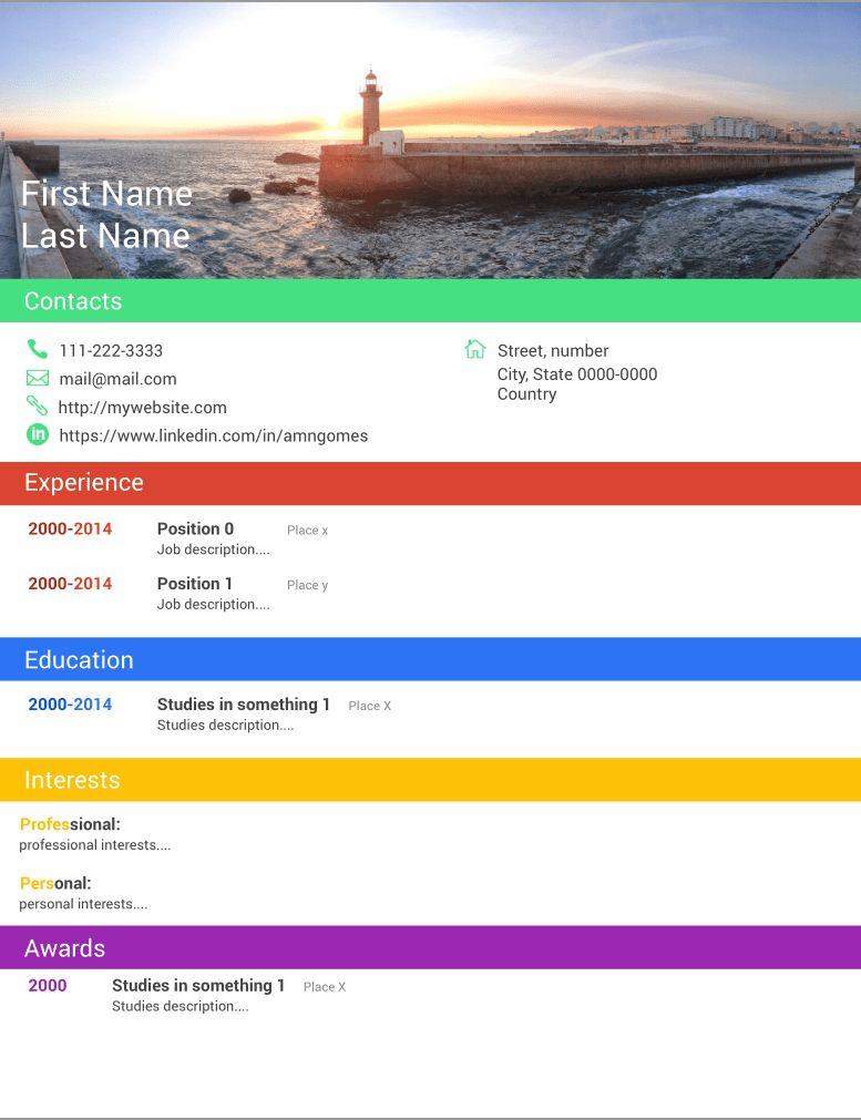 GitHub - bardsoftware/template-material-resume: (Latex) CV ...