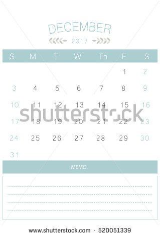 French Printable Monthly Calendar Template Set Stock Vector ...
