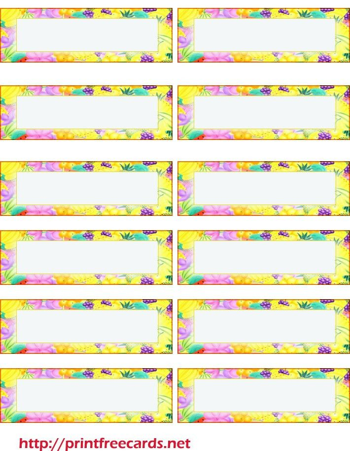 free printable address labels for summer   printables   Pinterest ...