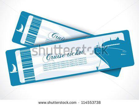 Cruise ship tickets - vector illustration | bon voyage | Pinterest ...