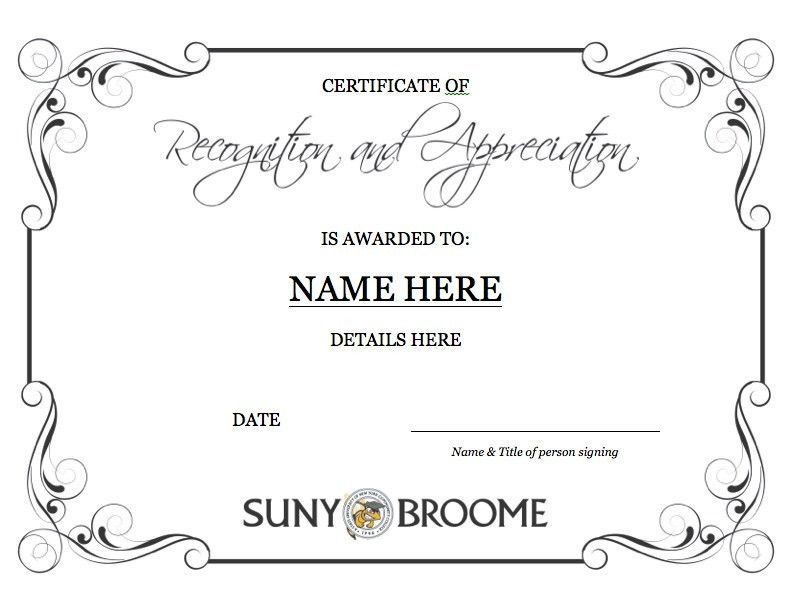 Marketing & Communications - Template: Certificate of Recognition ...