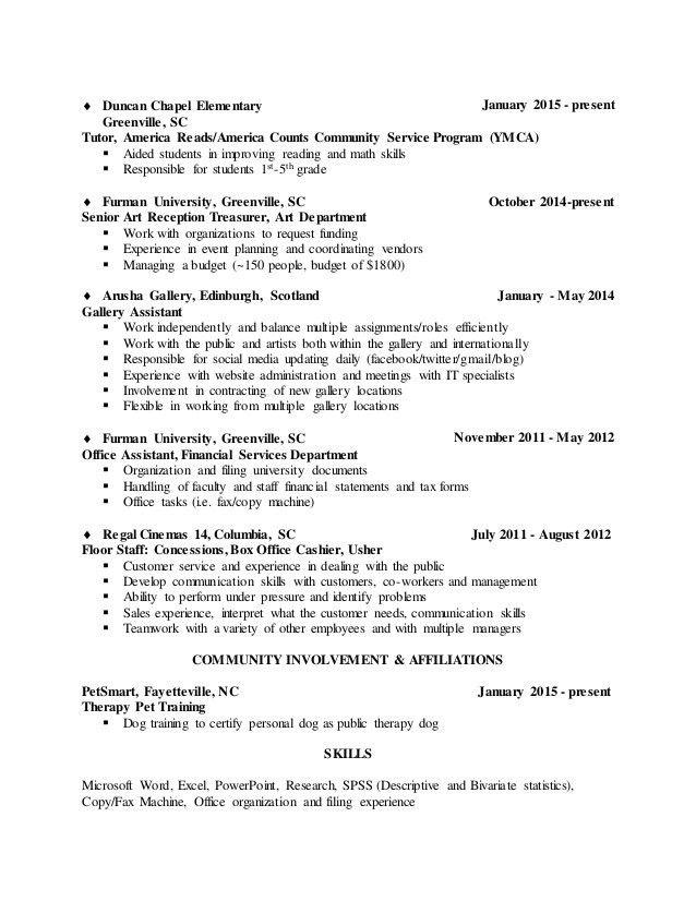 Undergraduate Resume
