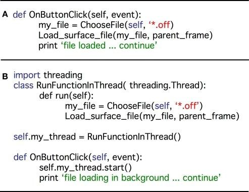 A demonstration of code simplicity in Python: enabling threading ...
