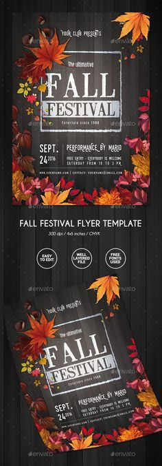 Fall Festival Flyer - Events Flyers | Надо попробовать | Pinterest ...