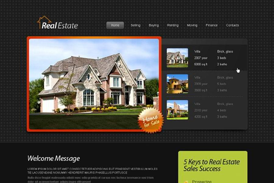 Free HTML5 Template for Real Estate Website - MonsterPost