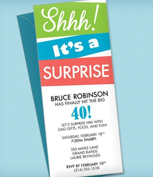 Surprise Party Invitation Template – Download & Print