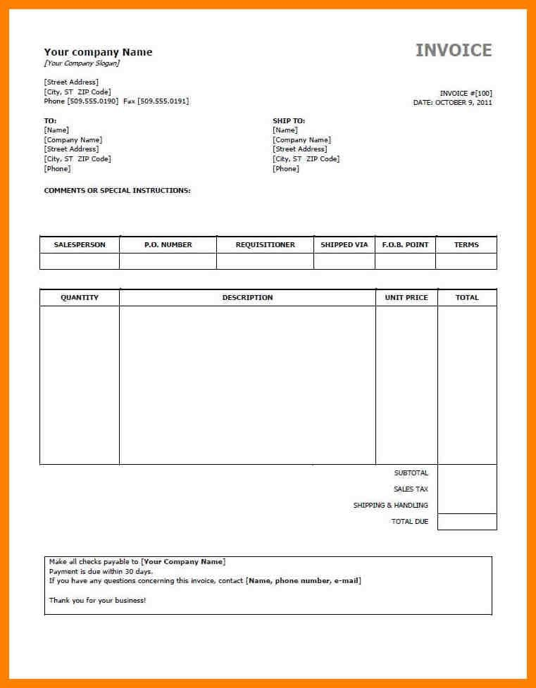 Sample Invoice Preview Invoice Template As Picture Free ...