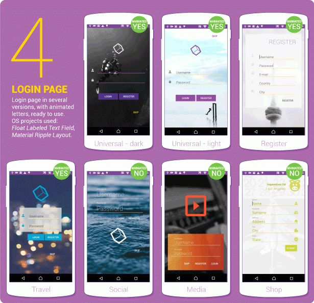 Material Design UI Android Template App by CreativeForm | CodeCanyon